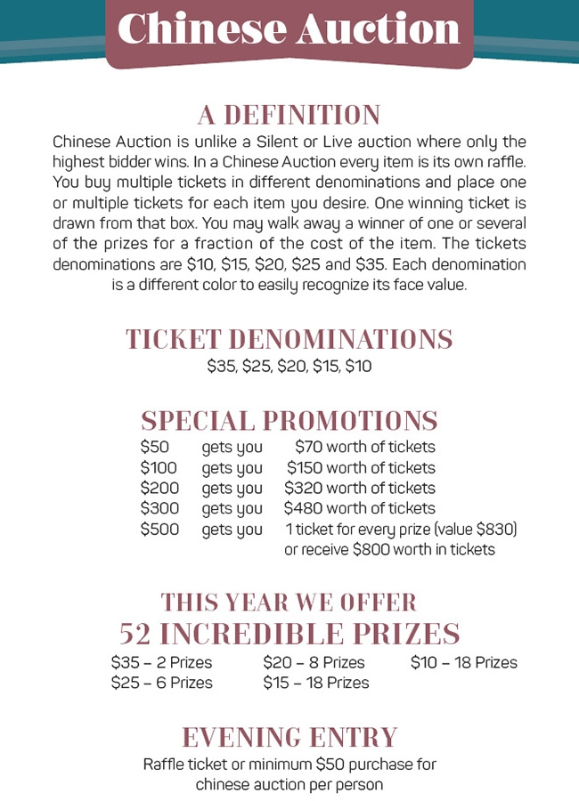 Chinese Auction Ticket Form - Chabad Of The Town, Montreal