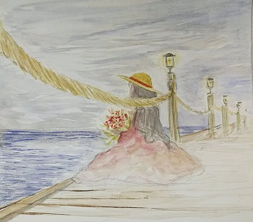 Painting by Charna Brocha Perman, the author's daughter