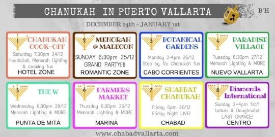 Chanukah Banner with all events
