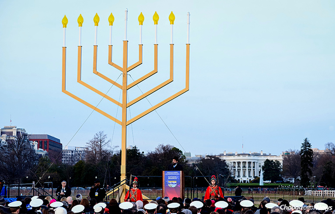 "The annual National Menorah Lighting Ceremony will take place on Sunday, Dec. 25, at 4 p.m., preceded by Chanukah entertainment and snacks. This year, it ranked No. 3 on USA Today's ""10 Best"" holiday attractions to see in Washington, D.C. (Photo: Baruch Ezagui)"