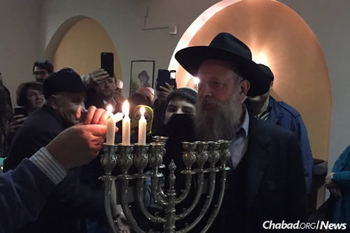 Rabbi Yitzchak Hazan, director of Chabad of Rome, grew up in Bolshevo, a neighborhood on the outskirts of Moscow. One of the places that he remembers going for the annual 19 Kislev gathering was to the home of his cousin, Rabbi Yisroel Friedman.