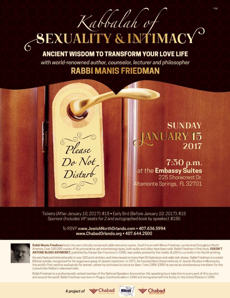 Rabbi Friedman In Kew Gardens Hills: An Evening With Rabbi Manis Friedman