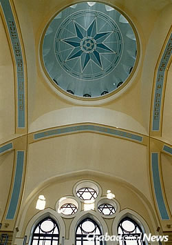 The renovated synagogue, unrecognizable from its former state.