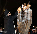 New Year's Eve Ice Menorah Lighting
