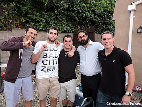 "Chabad on Campus, insists the rabbi, is ""supposed to be a home away from home."""