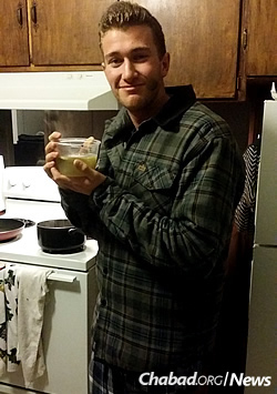 Third-year student Jeffrey Albaum, who was under the weather on Sunday, got soup delivered to his house by the rabbi.