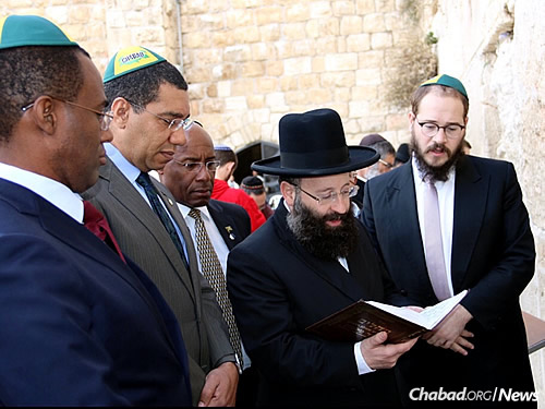 It was the Jamaican prime minister's first visit to Israel.