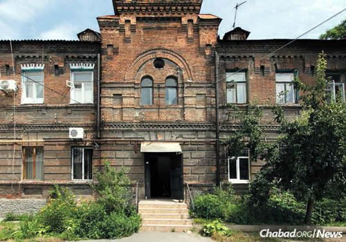 Schneerson family residence in Yekaterinoslav, 1914-1921. It was here that Rebbe's bar mitzvah was held. (Photo: Jewish Educational Media/Early Years)