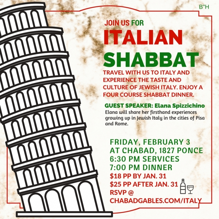 Italian Shabbat